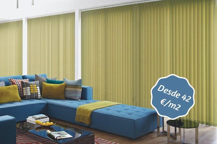 cortinas verticales pistacho