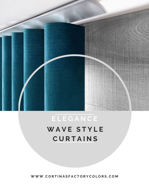 Wave style curtains