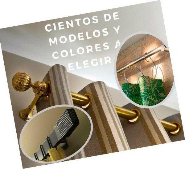 barras cortinas doradas