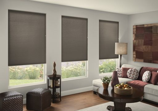pleated shades blackout