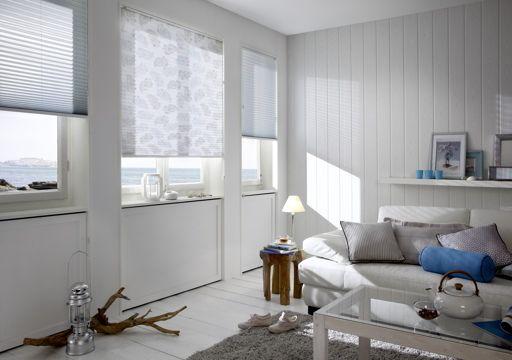 cortinas plisadas blanca