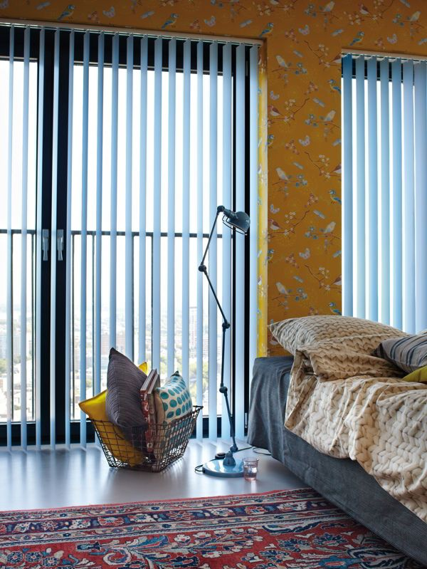cortinas verticales azules lama 89 mm