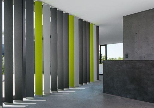 cortinas verticales lamas combinadas