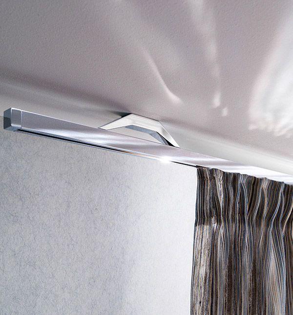riel para cortinas cromo techo