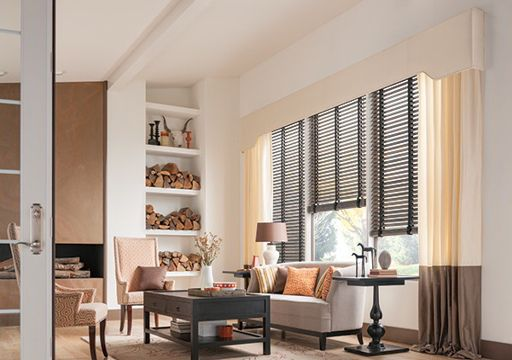 wooden venetian blinds for living room